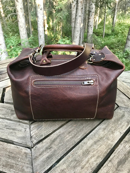 Handmade Leather Bags, Mid Sized Weekender-Kodiak