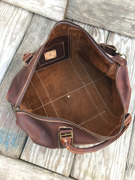 Handmade Leather Bags, Large Weekender 5 Colours