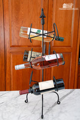 iron wine rack country decor