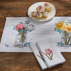 farmhouse spring table runner treasured country gifts.com