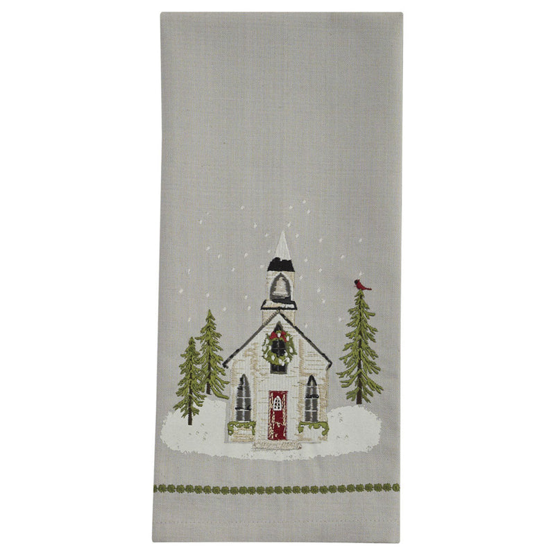 treasuredcountrygifts.com embroidered church dish towel holiday