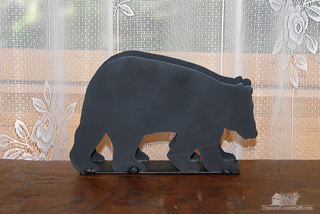 Ironware Business Card Holder: Black Bear