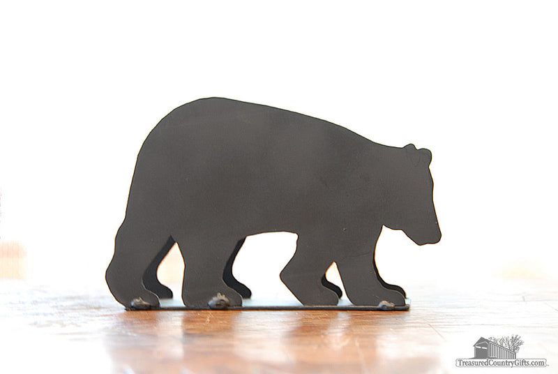 Ironware Letter Holder: Black Bear, Large