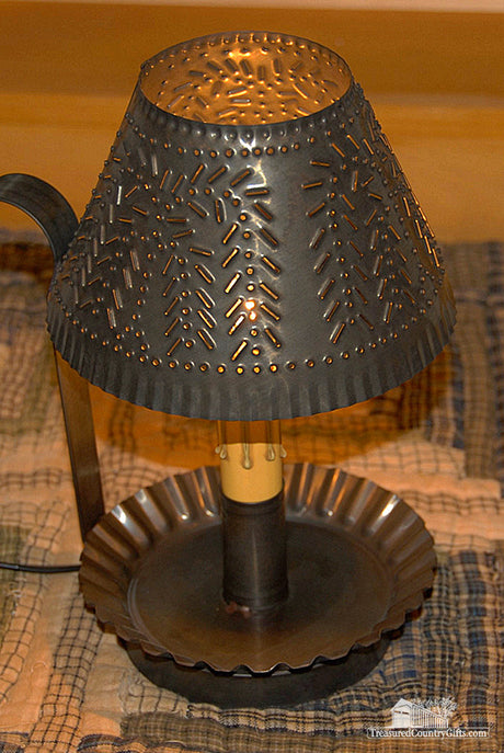 tin lighting. l punched tin accent lantern