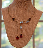 Cranberry Waterfall Hand made Necklace