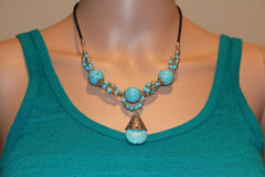 Turquoise Twist Handmade Necklace