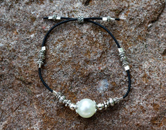 Pearl and Silver Handmade Bracelet
