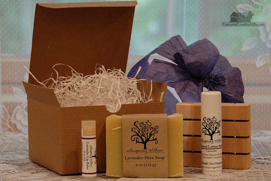 Natural Handmade Soap: Lavender Gift Box