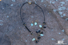 Onyx Necklace and Earring Set
