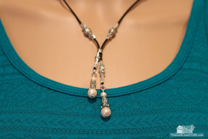Pearl Lariat Handmade Necklace