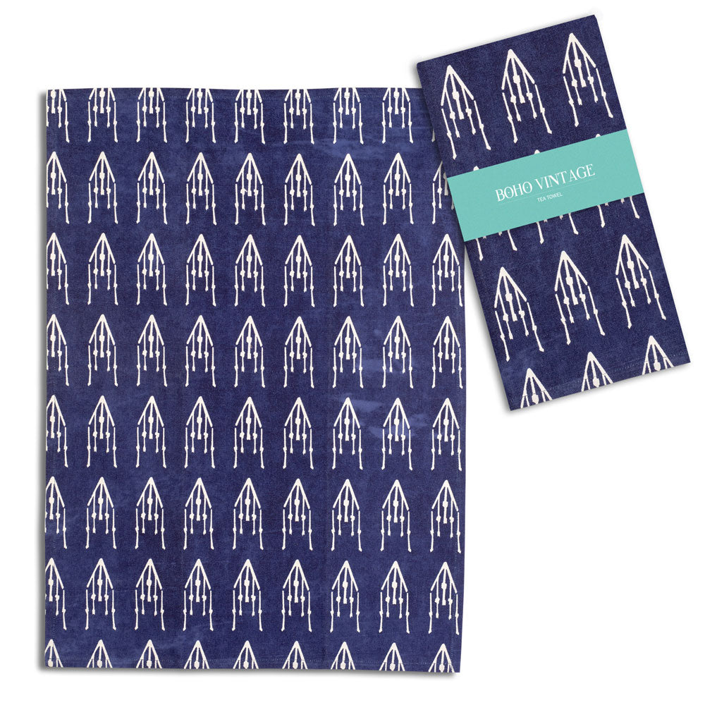Boho Blue Tea Towel TCG