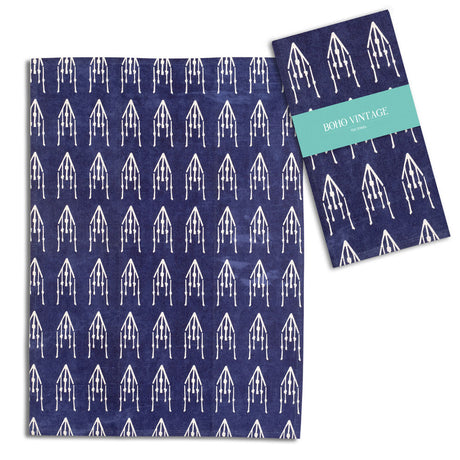 Boho Blue Tea Towel