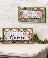Lattice Home Sign Set