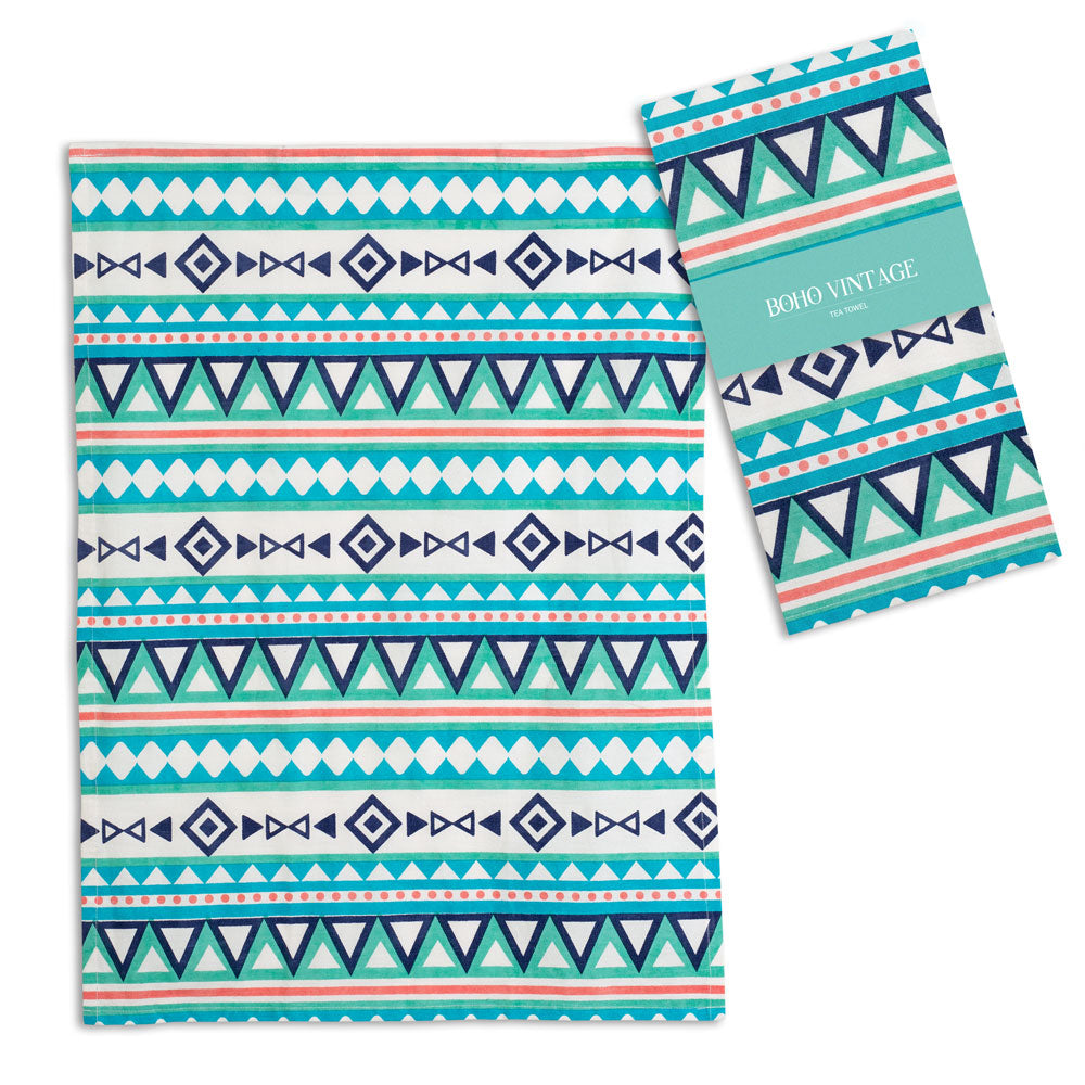 Boho  Colorful Tea Towel