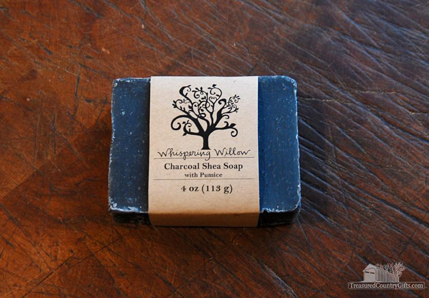 Natural Handmade Soap: Charcoal Shea with Pumice