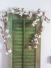 treasuredcountrygifts.com cotton garland green shutter