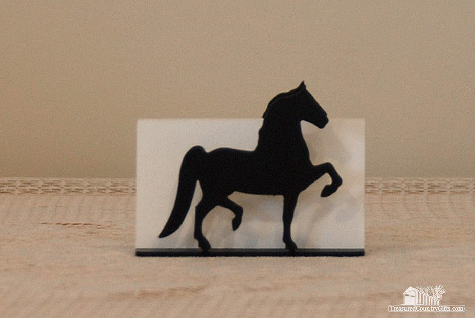 Ironware Business Card Holder: Horse