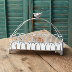 songbird white metal tray treasuredcountrygifts.com