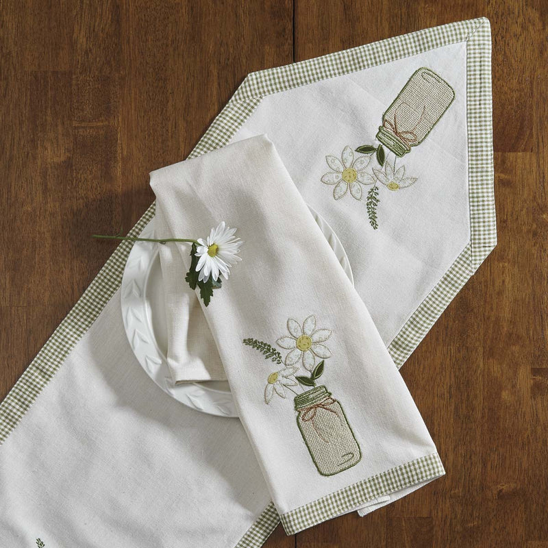 treasured country gifts mason jar daisy dishtowel