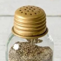 treasuredcountrygifts.com antique brass color salt or pepper shaker
