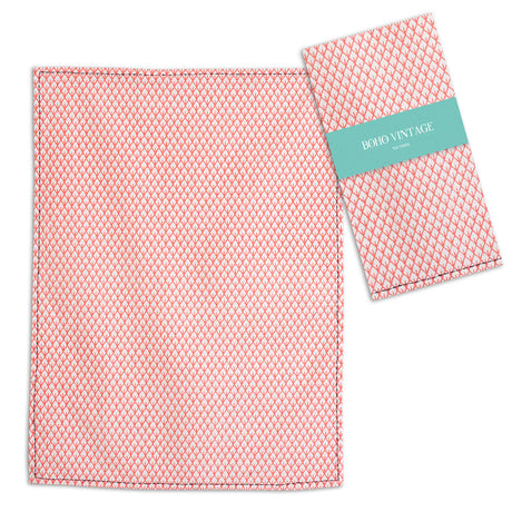 Boho Tea Towel Coral TCG