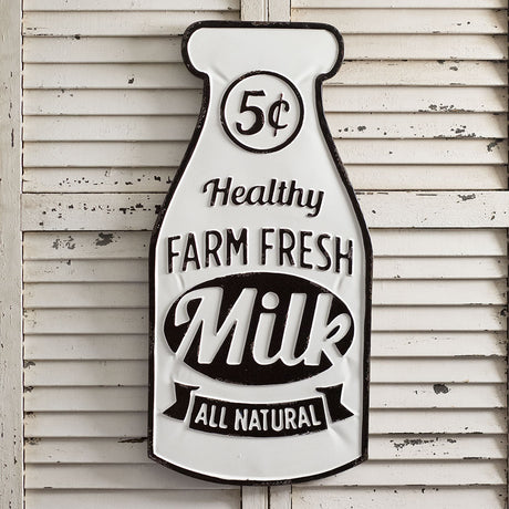 Farm Fresh Milk Sign