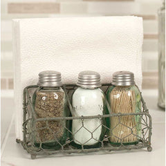 treasuredcountrygifts.com chicken wire salt pepper and napkin holder