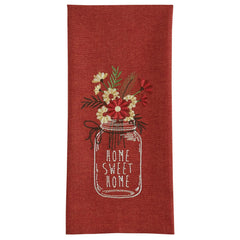 Embroidered Dishtowel Home Sweet Home