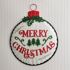 Metal Christmas Wall Ornament
