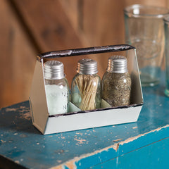Toolbox Salt,Pepper & Toothpick Caddy