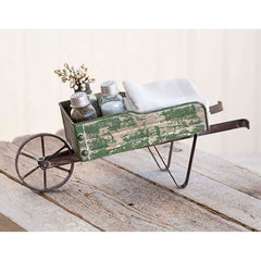 Green Tabletop Wheelbarrow