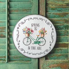 spring is in the air metal sign treasured country gifts