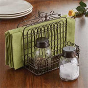 treasuredcountrygifts.com garden gate napkin salt & pepper caddy