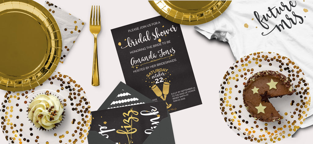 Gold & Black Bridal Shower