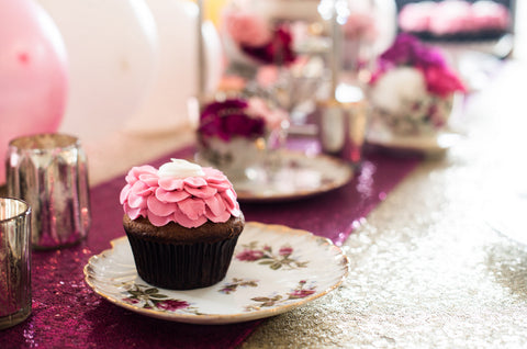 Flower Cupcake Tea Party