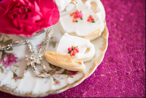 Vintage Tea Party Cookies Celebrate Chaos