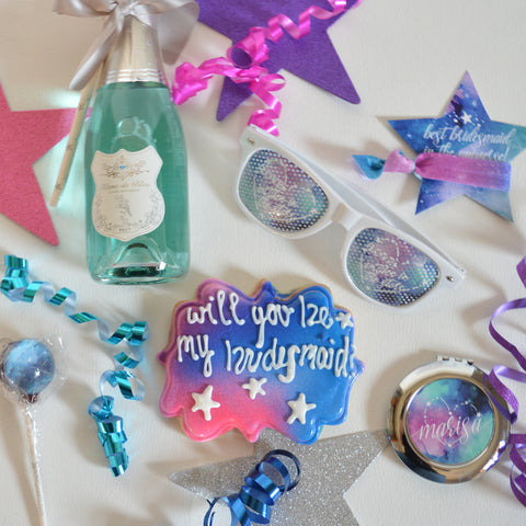 Custom Design Galaxy Bridal Party Gifts