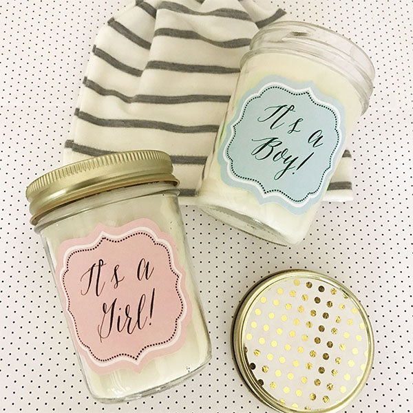Baby It's A Boy or Girl Mason Jar Candle