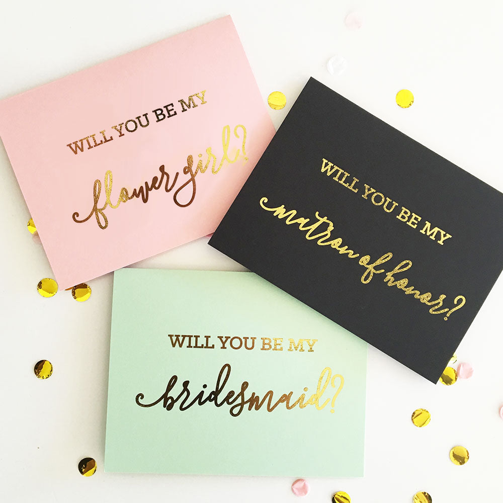 Be My Bridal Party Proposal Cards Will You Be My...