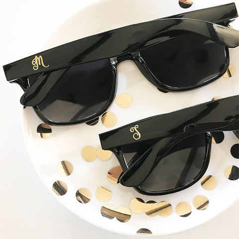 Black Gold Monogram Sunglasses