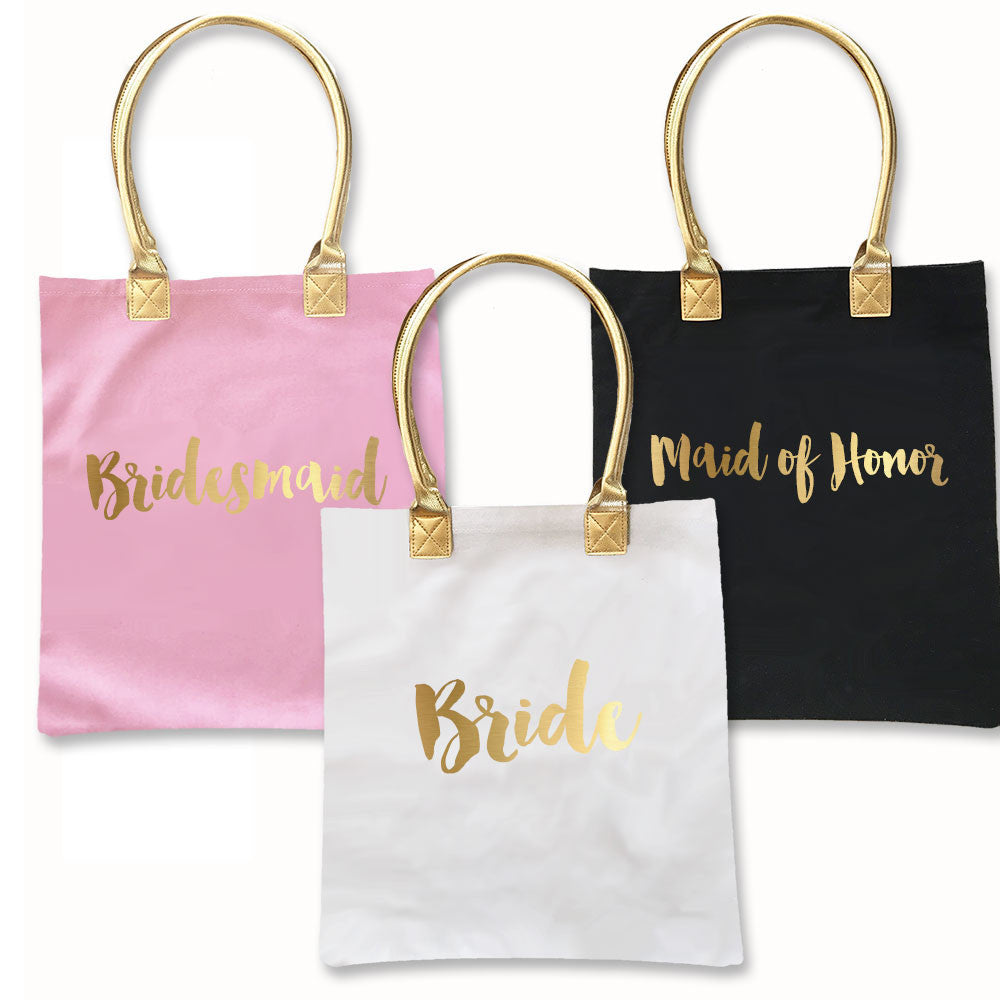 Bridal Party Gold Foil Tote