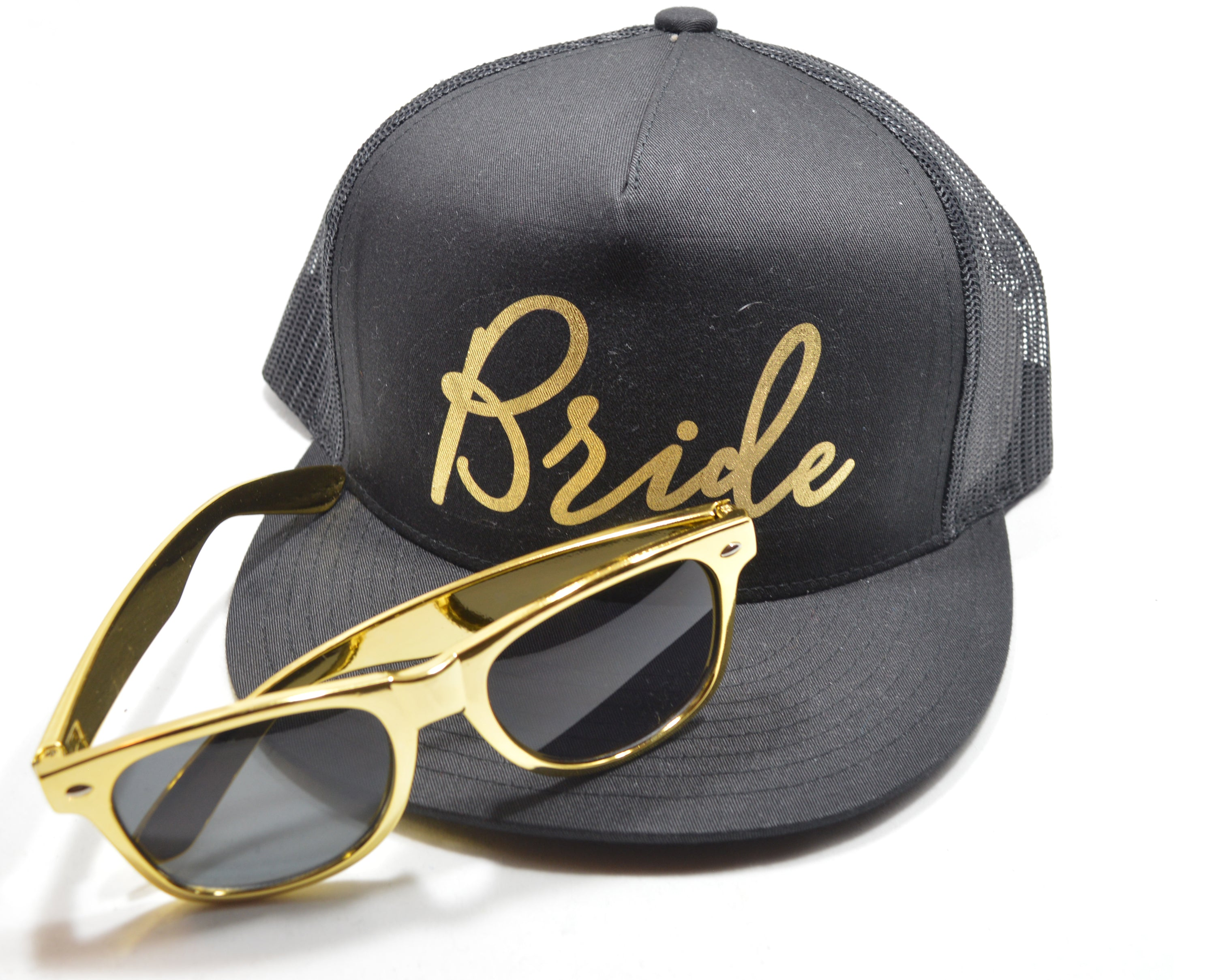 a43c6ffc808 Bridal Party Trucker Hat Gold Foil - Celebrate Chaos