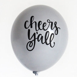 Cheers Y'all - Hand Lettered Balloons (Set of 3)