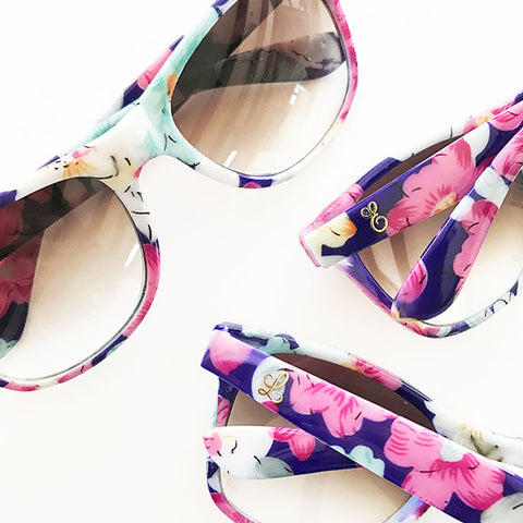 Floral Gold Monogram Sunglasses