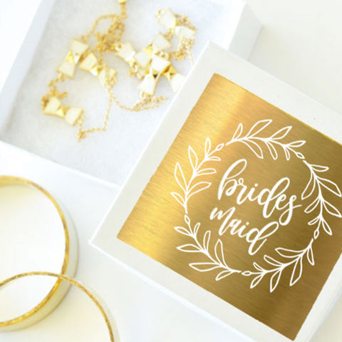 Gold Wreath Bridal Jewelry Gift Box (set of 6)