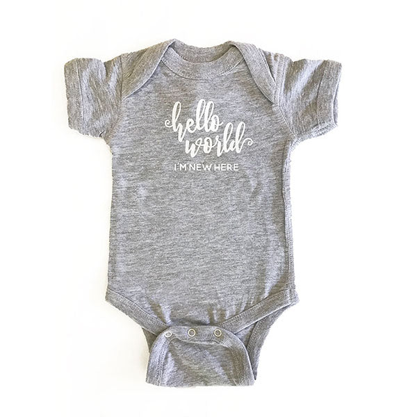 I'm New Here! Personalized Baby Bodysuit Onesie