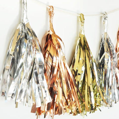 Metallic Gold & Silver Garland