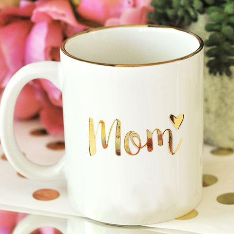 Mom Metallic Gold Coffee Mug