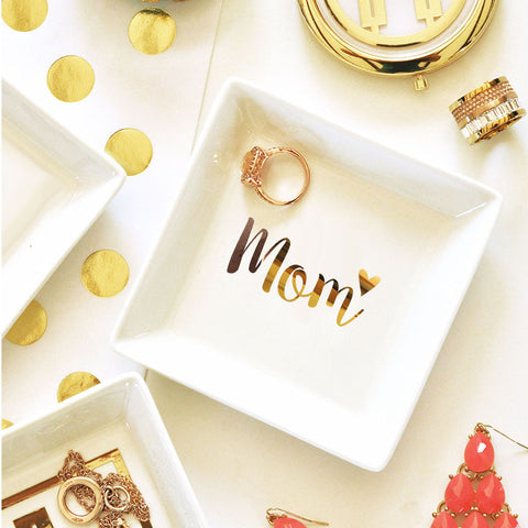 Mom Ring Jewelry Dish With Gold Foil