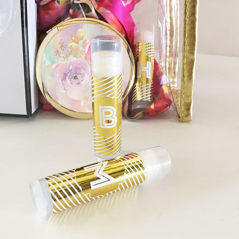 Monogram Metallic Foil Lip Balm